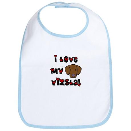 I Love my Vizsla Bib