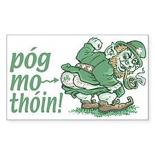 Pog Mo Thoin Irish Rectangle Decal