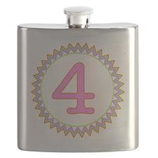 Number 4 Sherbert Zig Zag Flask