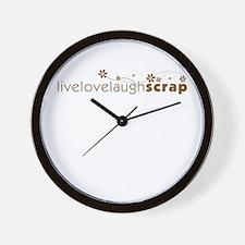 Live Love Laugh Scrap Wall Clock