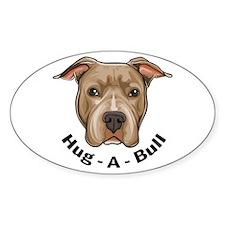 Hug-A-Bull 1 Oval Decal