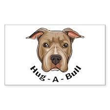 Hug-A-Bull 1 Rectangle Decal