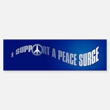 PEACE SURGE Bumper Bumper Bumper Sticker