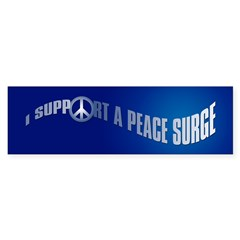 PEACE SURGE Bumper Bumper Sticker