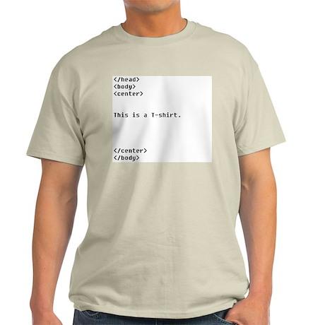 HTML Ash Grey T-Shirt