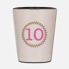 Number 10 Sherbert Zig Zag Shot Glass
