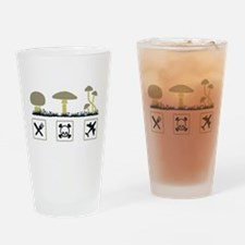 Eat Pray Fly Drinking Glass
