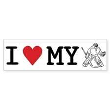 I Love My Goalie (hockey) Bumper Bumper Sticker