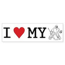 I Love My Goalie (hockey) Bumper Bumper Sticker