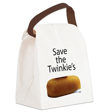 Save The Twinkie's Canvas Lunch Bag