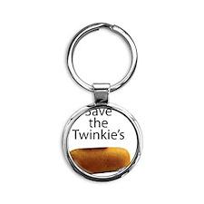 Save The Twinkie's Round Keychain