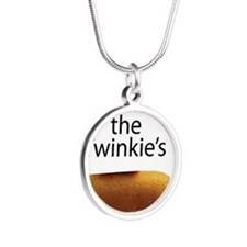 Save The Twinkie's Silver Round Necklace