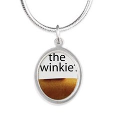Save The Twinkie's Silver Oval Necklace