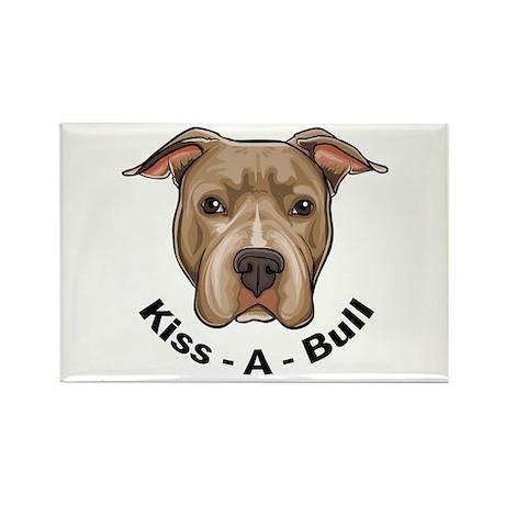 Kiss-A-Bull 1 Rectangle Magnet (100 pack)