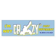 Crazy Hockey Goalie Bumper Bumper Sticker