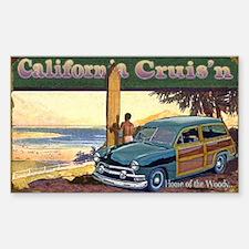 CALIFORNIA CRUIS'N Rectangle Decal