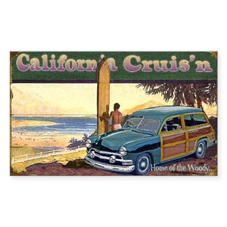 CALIFORNIA CRUIS'N Rectangle Sticker