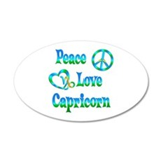 Peace Love Capricorn 20x12 Oval Wall Decal