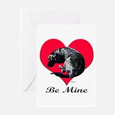 A Black Lab Valentine Greeting Cards (Pk of 10