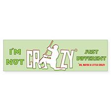 Im Not Crazy (lacrosse) Bumper Bumper Sticker