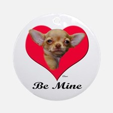 A Baby Chihuahua Valentine Ornament (Round)