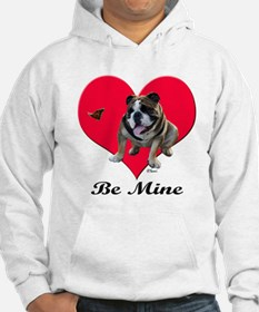 An English Bulldog Valentine Hoodie