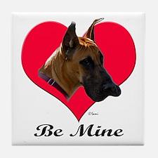 It's A Great Dane Valentine! Tile Coaster