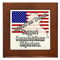 Support Conscientious Objectors! Framed Tile