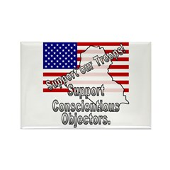 Support Conscientious Objectors! Rectangle Magnet