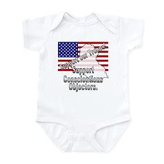 Support Conscientious Objectors! Infant Bodysuit