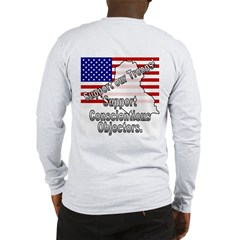Conscientious Objector (OnBack) Long Sleeve T-Shir