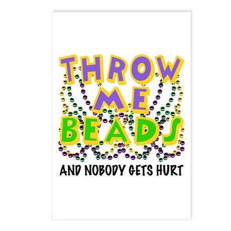 Throw Me Beads Postcards (Package of 8)