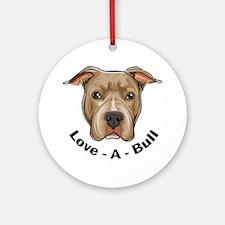 Love-A-Bull 1 Ornament (Round)