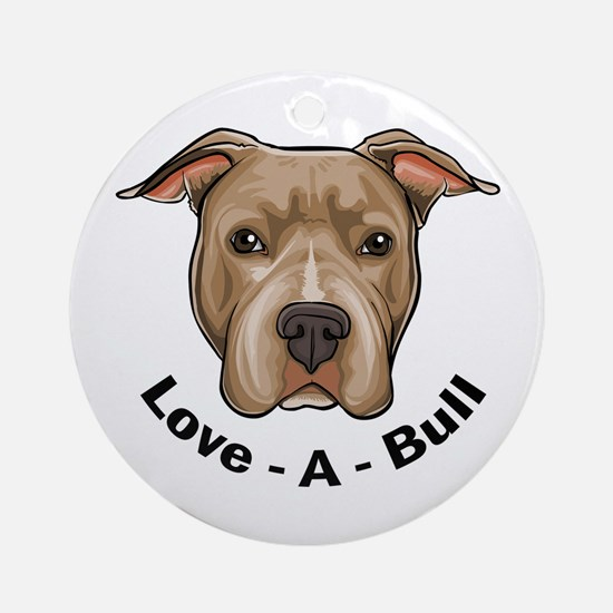 Love-A-Bull 1 Ornament (Round)