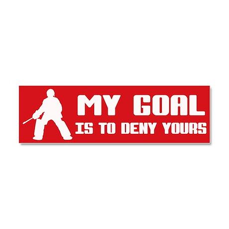 My Goal, Field Hockey Goalie Car Magnet 10 x 3
