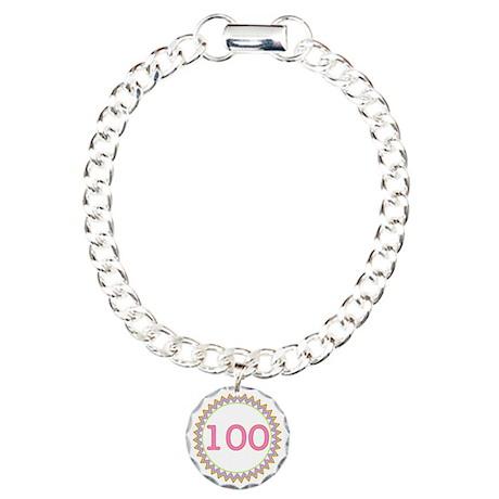 Number 100 Sherbert Zig Charm Bracelet, One Charm