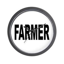 Farmer Wall Clock
