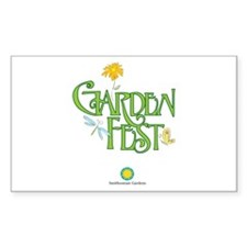 Garden Fest Sticker (Rectangle)