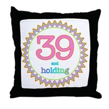 Number 39 and Holding Sherbert Zig Za Throw Pillow