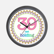 Number 39 and Holding Sherbert Zig Zag Wall Clock