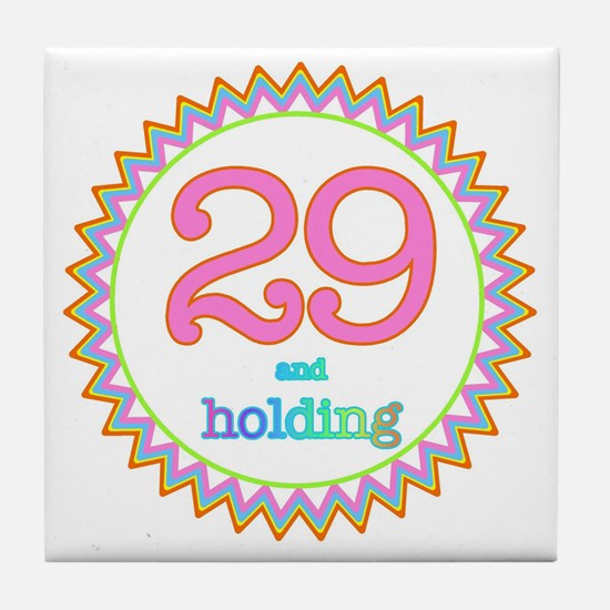 Number 29 and Holding Sherbert Zig Za Tile Coaster