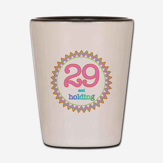 Number 29 and Holding Sherbert Zig Zag Shot Glass