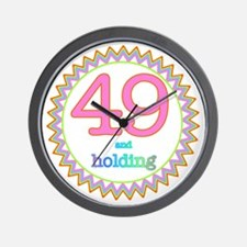 Number 49 and Holding Sherbert Zig Zag Wall Clock