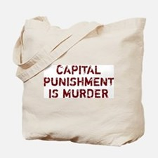 Capital Punishment Is Murder Tote Bag