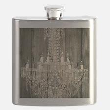 barnwood  chandelier rustic Flask