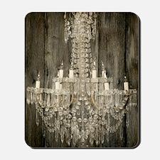 barnwood  chandelier rustic Mousepad