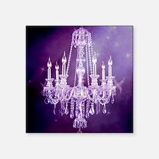 """purple chandelier  Square Sticker 3"""" x 3"""""""