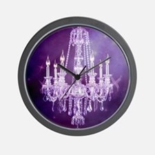 purple chandelier  Wall Clock