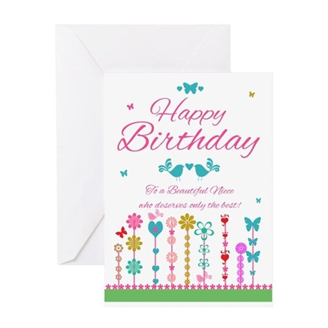 niece pretty birthday card with butterflies by moonlakedesigns