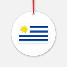 Uruguay's flag Ornament (Round)
